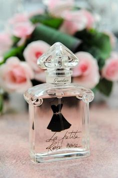 """""""La Petite Robe Noire"""" Guerlain perfume Clear Spring Perfume sparkling scents with fruity base Guerlain Perfume, Beautiful Perfume, Solid Perfume, Antique Perfume Bottles, Perfume Collection, Body Spray, Smell Good, Cosmetics, Vintage Perfume Bottles"""