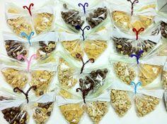 JezebelleArt: DIY Healthy Party Favors: Butterfly Snacks