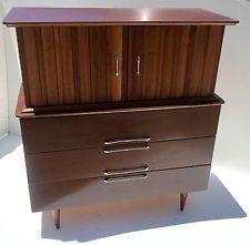 Vintage Bassett 50 S Blonde 4 Drawer Chest Dresser Chicago