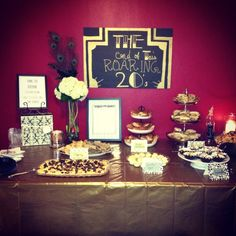 Great gatsby party- tiered party platers a must