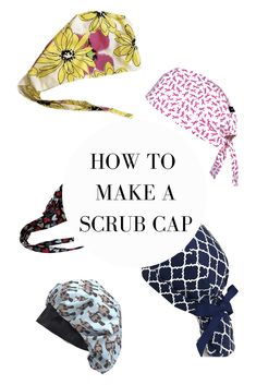 BEST SCRUB CAP PATTERNS – how to make surgical caps for nurses, doctors and health carer workers using these free patterns! Scrub Hat Patterns, Hat Patterns To Sew, Sewing Patterns Free, Hat Pattern Sewing, Scrubs Pattern, Free Pattern, Nurse Hat, Surgical Caps, Diy Hat