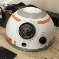 hello life size #bb8 in the making :) #bb8builders #bb8buildersclub #r2d2buildersclub #starwars #steamsailor #jedi #building #art #nawden #forceawakens #kyloren #r2d2 #droid #forcefriday #3dprinting #bb8awakens by michaeltinson