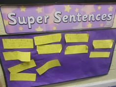 A great idea i got from visiting another school. The children write their super sentences independently and stick them to the wall. We then share them as a class to show they are valued.