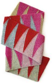 Opskrift på vendestrikket tofarvet halstørklæde af Hanne Meedom & Sofie Meedom