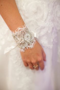 Lovely  Beaded Pearl And Crystal Bracelet  Bridal by StellasDesign, $68.00