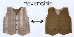 Reversible Boy's Vest From Old Trousers