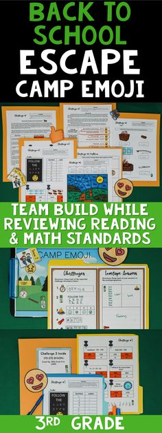 This 3rd Grade Emoji Escape Room is a great way to practice reading and math standards as a review during Back to School! This is an awesome team building game for the first week of school with your third graders! #breakoutedu #escapeclassroom Beginning Of The School Year, Last Day Of School, New School Year, Too Cool For School, School Fun, Middle School, School Ideas, First Week Activities, Back To School Activities