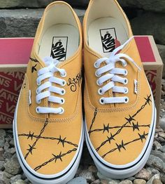 Post Malone Custom Painted Vans - Source by Shoes Custom Vans Shoes, Custom Painted Shoes, Painted Vans, Painted Canvas Shoes, Painted Sneakers, Custom Sneakers, Post Malone, Vans Pintados, Outfits With Vans