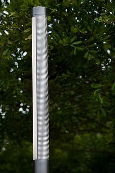Light Column Pedestrian Lighting shown with 180 degree perforated shield