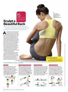 Back exercises.