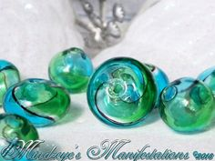 {8} Hand Blown Glass Lampwork Beads 12mm & 16.5x11mm. Starting at $5 on Tophatter.com!