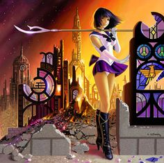 Pretty Soldier Sailor Saturn by ~stardriv on deviantART - I am actually liking the creative liberty the artist took with Saturn's boots.