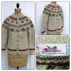 Fair Isle Denmark Cardigan Wool Sweater by CreatedAndCollected, $65.00