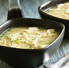 Lemony Chicken Noodle Soup with Ginger, Chile & Cilantro Recipe