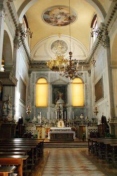 Iglesia del Angel Rafael, vista interior. Venecia Italia