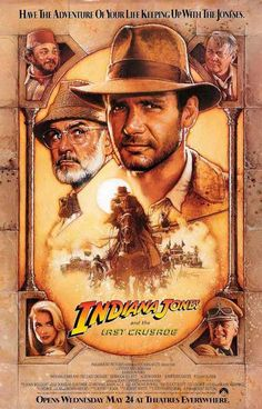 Keep up with the Joneses with this great poster for the third movie of the Indiana Jones film series - The Last Crusade! Ships fast. 11x17 inches. Be Adventurous! Check out the rest of our selection o