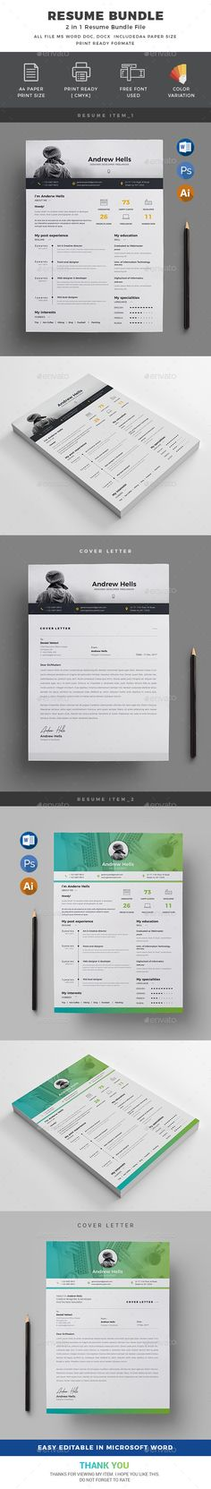 Resume | Stationery, Print Templates And Ai Illustrator