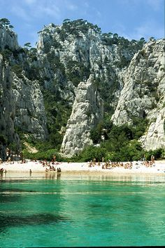 | ♕ | Azure beach of Calanque - off Cassis in Cote-d'Azur | by © peter.smithkeary