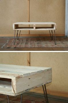 Woodworking Diy Projects By Ted - Table basse palette à vendre sur Etsy www.homelisty.com... Get A Lifetime Of Project Ideas & Inspiration!