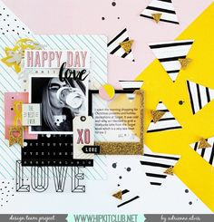 Check out this amazing layout created by designer @adriennealvis She used our #december2015 kits featuring @cratepaper @maggiehdesign Shine collection @studio_calico @sevenpaper #hipkits #hipkitclub #scrapbook #scrapbooklayout