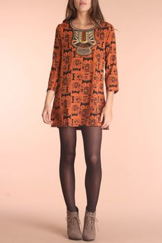 {Tribal Owl Tunic w/ Embroidered detail}  Blue Plate - have to look closely, but they are owls!