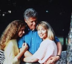 Photo from People Mag 1991 - when Bill was first running for President