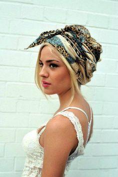 hair scarves | Trend I Love: 31 Scarf Hair Wraps photo Callina Marie's photos ...