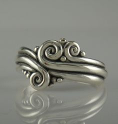 Sterling Silver Swirl Ring One of a Kind by DenimAndDiaJewelry, $160.00