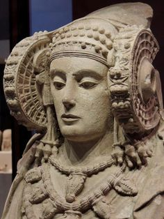 The Lady of Elche is an Iberian sculpture from the 4th century BC believed to represent Tinit, the goddess of Carthage. It was used as a funerary urn.