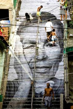 See the best stair street art from around the world.