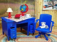 Renwal-DESK-SWIVEL-CHAIR-LAMP-Vintage-Ideal-Tin-Dollhouse-Furniture-Plastic