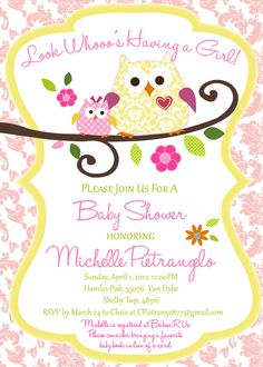 Happi Tree Owl Baby Shower Invitation By Elsacarolinedesigns