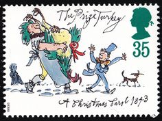 British Stamp - Charles Dickens The Prize Turkey Uk Stamps, Quentin Blake, Postage Stamp Art, Going Postal, Roald Dahl, Christmas Carol, Christmas Images, Political Cartoons, Mail Art