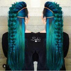 Love this Dutch braid fauxhawk hairdo