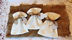 Rustic wedding favors bags, or Christmas, baptism, birthday, baby gift by ArtCenter43 on Wedding and Party Favors on ArtFire