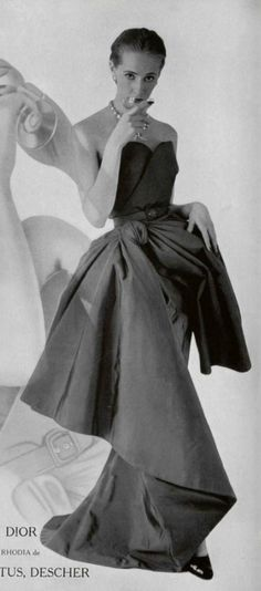 1951 - Christian Dior dress                                                                                                                                                      More