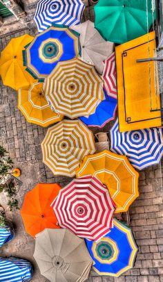 Cinque TERRE, Italy, Umbrellas