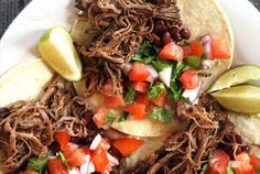 Slow Cooker Barbacoa Beef- I made this today ad it turn out amazing! I didn't use brisket- just round chuck. One of the best things I have EVER made!