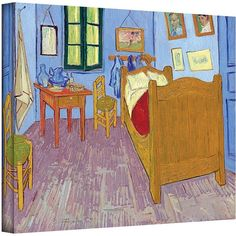 14'' x 18'' ''The Bedroom'' Canvas Wall Art by Vincent van Gogh ($93) ❤ liked on Polyvore featuring home, home decor, wall art, multicolor, canvas wall art, canvas home decor, colorful canvas wall art, horizontal wall art and colorful wall art