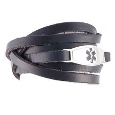 The Black Wrap leather medical bracelets are the perfect choice for casual wear. We wrapped them nice and neat, but you can wrap them disorderly too! They can be wrapped once and the excess cut, or your style might be to wrap it multiple times. Diabetic Bracelets, Medical Id Bracelets, Cute Bracelets, Fashion Bracelets, Black Leather, Mens Fashion, Diabetes, Times, Leiden