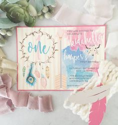 Boho Kidchella Birthday Invite by withlovejandkshop on Etsy