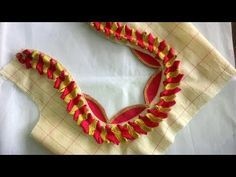 new design blouse cutting and stitching at homeLatest saree blouse designs for 2018 that will amaze you - ArtsyCraftsyDad This video will show you how to create a beautiful and simple way MMS Latest Blouse Back Neck designs Easy Cutting and. Patch Work Blouse Designs, Saree Blouse Neck Designs, Stylish Blouse Design, Fancy Blouse Designs, Hand Designs, Mehndi Designs, Churidar Neck Designs, Designer Blouse Patterns, Bridal