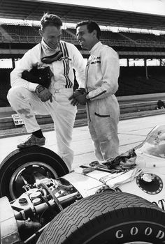 Dan Gurney & Jim Clark. Clark feared Gurney more than any other driver he drove against.