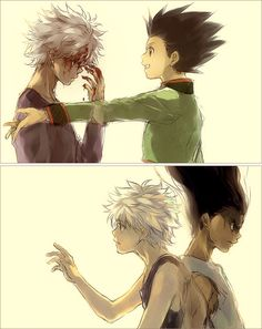 Tags: Anime, Fanart, Hunter x Hunter, Killua Zoldyck, Gon Freaks