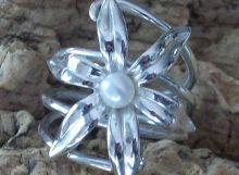 Anell flor de la vida i perla