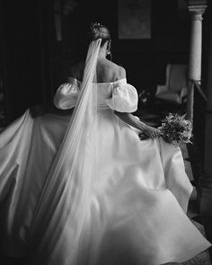 Black + white portrait of bride wearing Viero bridal wedding dress, off the shoulder with poufy sleeves. Photography by Benjamin Wheeler. Wedding Photography And Videography, Wedding Photography Inspiration, Wedding Inspiration, Dream Wedding, Wedding Day, Wedding Reception, Bride Gifts, Destination Wedding Photographer, Destination Weddings