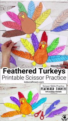 Feathered Turkey Craft and Scissor Practice