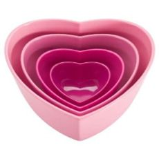 Zak Designs Amore Nested Heart Bowl Set