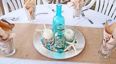 Beach reception centerpiece ideas and décor options offered by Sand Petal Weddings. Beach Wedding Locations, Beach Wedding Reception, Wedding Reception Centerpieces, Candle Centerpieces, Centerpiece Ideas, Crab Feast, Dinner Themes, Shell Crafts, Beach Themes