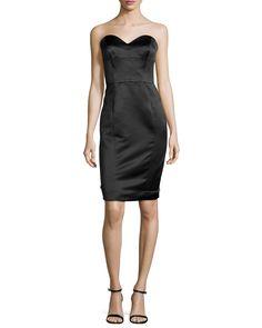 Marta Strapless Duchess Satin Dress